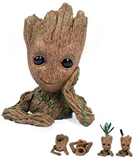 Multifunction Movie Baby Groot Planter Pen Container Guardians of the Galaxy Tree Man Flowerpot with Whole action Figures model Toy