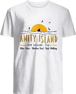 Amity Island Blue Skies Shallow Surf Safe Bathing Shirt White