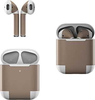 Skin Decals for Apple AirPods - Solid State Flat Dark Earth - Sticker Wrap Fits 1st and 2nd Generation