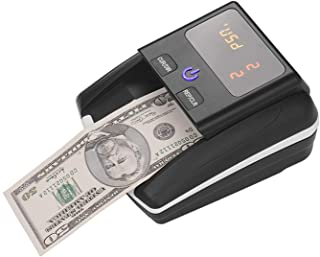 TTone Portable Small Banknote Bill Detector Denomination Value Counter UV/MG/IR Detection with Battery Counterfeit Fake Mo...