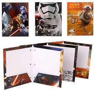 Star Wars 7 Portfolio The Force Awakens - Set of 3 Portfolio 2 Pocket School Folders