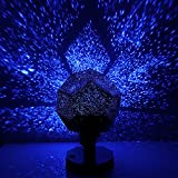 MinGz DIY Star Projector Night Light,Color Changing Aurora Night Light Projection, 3 Bulbs USB Cable for Baby Kids Nursery Bedroom Living Room