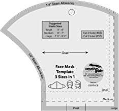Creative Grids Non-Slip Sewing Ruler Template - Face Mask - cgrFACE