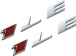 EmbRoom 2 OEM Camaro 1LE Emblem Badge Letter Rear Side 1LE Door Genuine (Chrome Red)