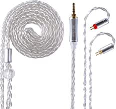 Replacement Earphones Connector Cable,8 Core Headset Braided Silver Plated Wire Upgrade Earphone Cable for CCA C10 C16 AS10 ZS4 ZS5 ZS6 ZS10 ES4 ZST ZSR ED16 TRN V80 V20 V60 TFZ etc(Silve-2PIN 2.5mm)