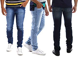 Kit com 3 Calças Jeans Masculinas Slim com Lycra Bamborra