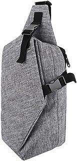 KK5 Single Shoulder Backpack - Oxford Nylon Waterproof Sling Bag| One Shoulder Chest Bag| Lightweight Casual iPad Tablet Smartphone Pack| for Outdoor Travel Hiking Men Women Grey