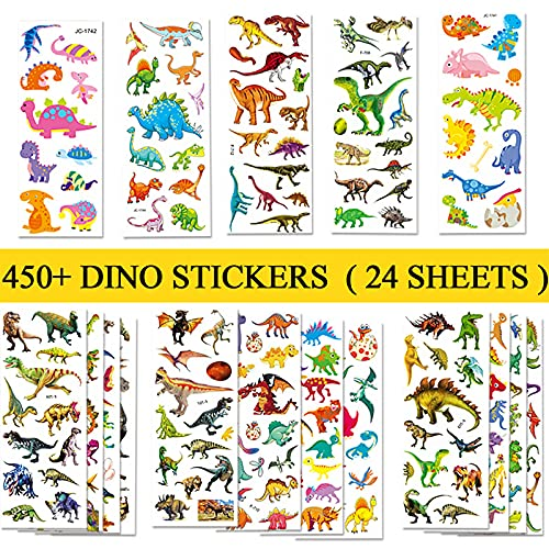 BEESTECH 450+ Dinosaur Stickers for Kids Boys...