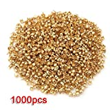 fitTek® 1000X Remaches Tachuelas Cobre Color Dorado para Bolso Ropa 2.5mm