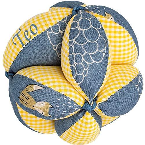Pelota Montessori Personalizada de Tela para bebé (Fox)