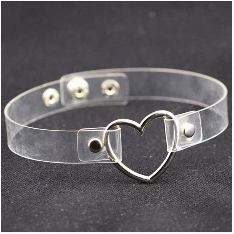 Our shop OFFers the best service SHOYY Punk Ladies Long Beach Mall Gothic Necklace Collar Neck Buckle Heart Round