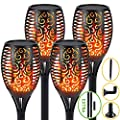 S.Y. Solar Lights Outdoor, 4 Pack, 96 LED Solar Torch Light with Dancing Flickering Flames, 3 Installation, 2 Heights Available, Waterproof Landscape Solar Garden Lights, Auto On/Off Outdoor Lighting