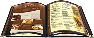 Yescom 20pcs Menu Cover 5 Pages Double Stitched 8.5x11inches 10 View Book Food Bar Restaurant Black