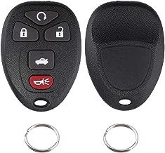 Key Fob Shell Case Keyless Entry Remote For Chevrolet Chevy Cobalt Malibu Buick Allure Lacrosse Pontiac G5 G6 Grand Prix Solstice/Saturn Aura Sky (Part # 22733524 KOBGT04A) Set of 2