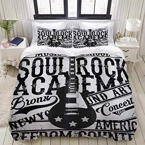 Luoquan Ropa de Cama - Funda nórdica Póster Retro Soul Rock Academy...