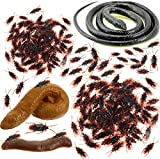 Fake Cockroach Fake Poop Realistic Rubber Snakes 70 Pieces Fake Roach Novelty Bugs Toys Prank for April Fools' Day Halloween Party Favors and Decorations Props Boys Girls Gifts