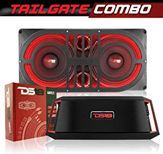 DS18 JMID Jeep Wrangler JK/JKU/JL Bass Subwoofer Tailgate Combo - Includes JMID Enclosure Box, 2 x PRO-X10M Midrange Loudspeaker, 2X Pro-TW120 Super Bullet Tweeter, 1 x GEN-X1600.4 Amplifier, RGB LED