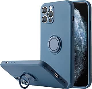 SAILOS iPhone 12 Pro Max Case with Ring /12/12 Pro/12 mini Case 360°Rotating Holder,Scratch-proof and Shockproof Soft Prot...