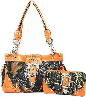 Premium Women's Camouflage Buckle Shoulder Handbag Wallet in Multi-Color