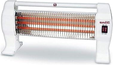 Basic Home S2201597 Calefactor Electrico de Cuarzo Basic Home 1200W Blanco