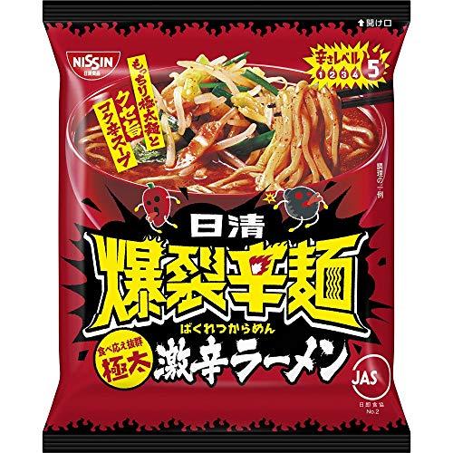 日清 爆裂辛麺 極太激辛ラーメン 109g ×12袋
