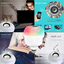 Gaddrt Bluetooth 12W LED RGB Wireless Bluetooth Speaker Flash Light Music Lamp Bulb with Remote Control A Estimated Price : £ 7,43