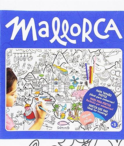 Mallorca (Mapa percolorejar): Para pintar y colorear a lo grande (Color Map)