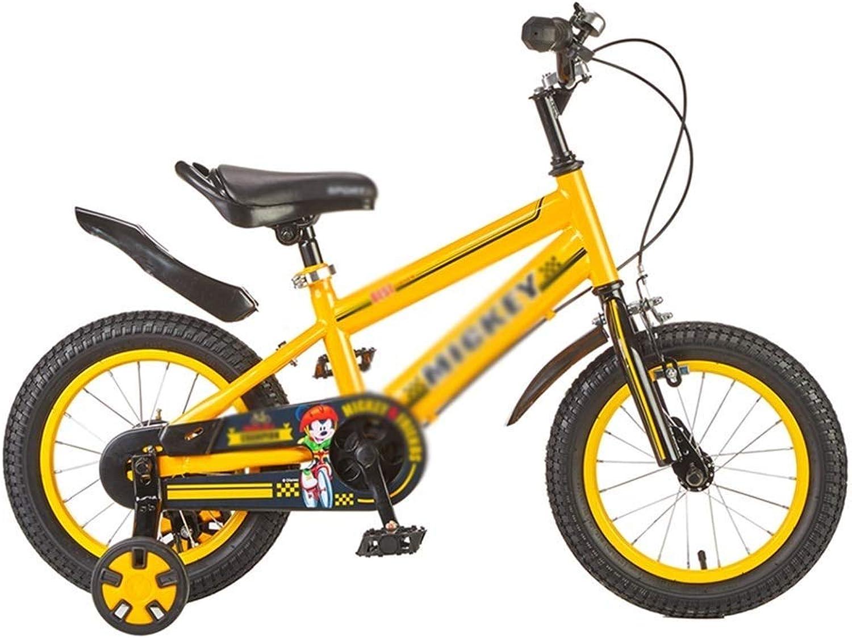 precios mas baratos LJFYMX Bicicleta Bicicleta para para para Niños Bicicleta Niño Bicicleta fácil de Montar Doble Sistema de Frenos Pedal de Bicicleta (Color   amarillo, Talla   A)  barato en alta calidad