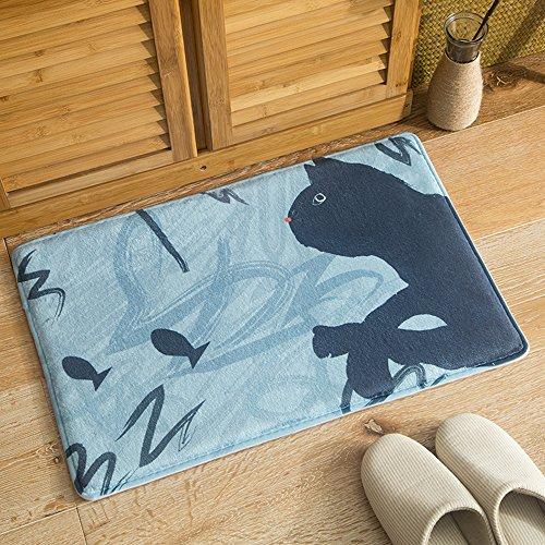 oobest tapijt voor binnen, zeer absorberend, diermotief, voor badkamer, keuken, tapijt, muismat, kat, voor woonkamer