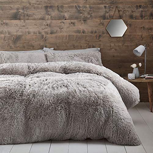Catherine Lansfield Cuddly Single Duvet Set Silver