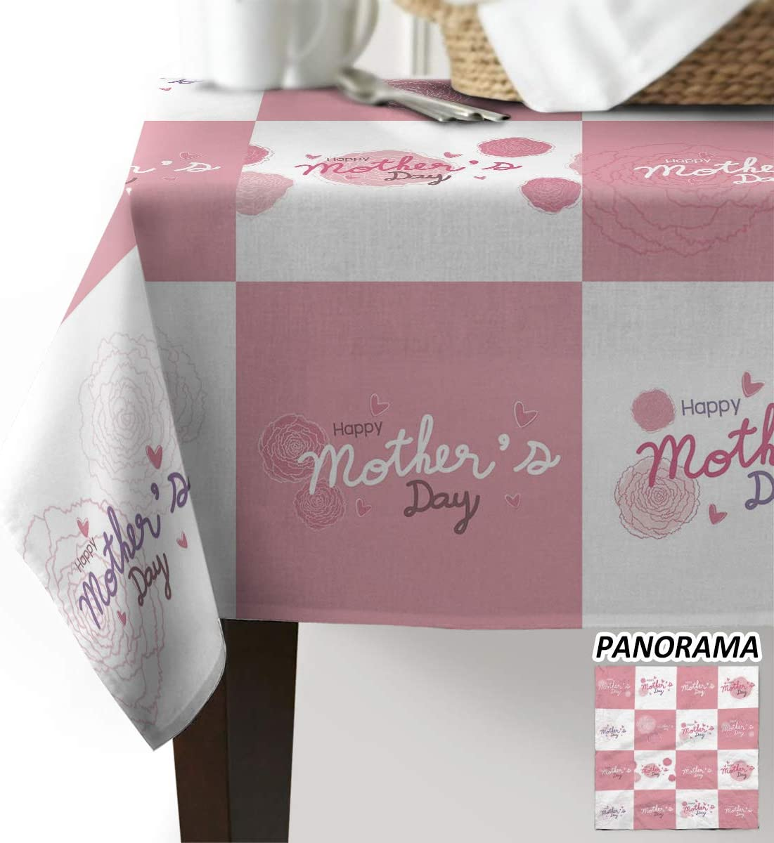 Advancey Rectangle Tablecloth - 60x84 Happy 売れ筋ランキング inch Mother's お歳暮 Pi Day