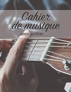 Cahier de musique pour guitare: 12 Portées - 108 pages (French Edition)
