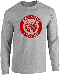 Bayside Tigers 90s Retro Halloween Costume Full Long Sleeve Tee T-Shirt