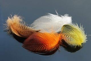Tigofly 40 st/förpackning 4 färger naturlig hullindad gräsmatta fjäder vild gås hår vingar flugbindande material