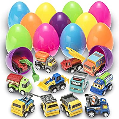 prextex toy filled easter eggs filled with pull-back construction vehicles Prextex Toy Filled Easter Eggs Filled with Pull-Back Construction Vehicles 61wZVEThOLL