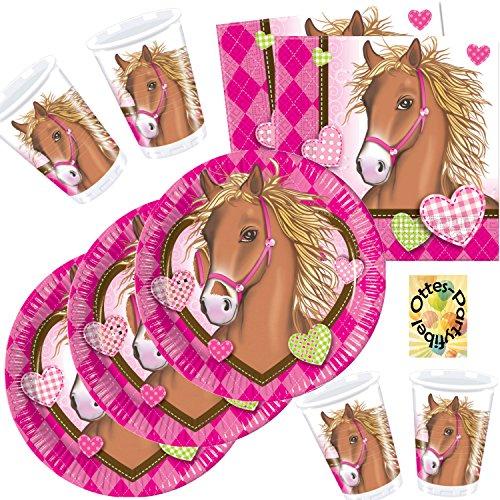 Horses Pferde Partyset 36 Teile für 8 Kinder Teller Becher Servietten