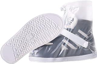 BaiMoJia Scarpe Pioggia Impermeabile Copriscarpe Riutilizzabile Stivali di Copriscarpe Antiscivolo con Zip equitazione