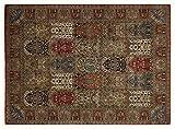 KIAN GHOM echter klassischer Orient-Felder-Teppich handgeknüpft in rot-rot, Größe: 80x250 cm