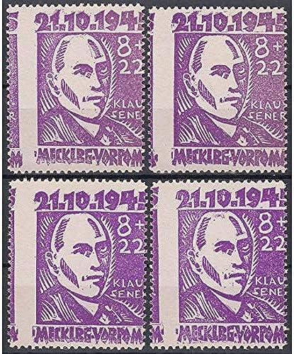 Goldhahn SBZ Nr. 21 postfrisch  4X verz t mit Plattenfehlern V,IX,X+XII Briefürken für Sammler