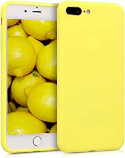 kwmobile Funda Compatible con Apple iPhone 7 Plus / 8 Plus - Carcasa de TPU Silicona - Protector Trasero en Amarillo Pastel Mate