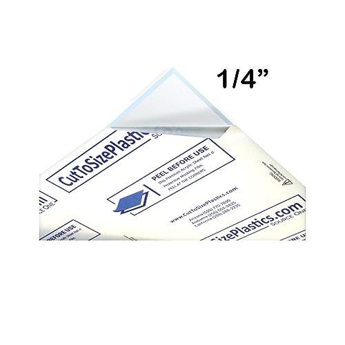 "Plexiglas G Plexiglass Clear Cast Acrylic Sheet 1//2/"" x 11/"" x 11/"" Cut Oversize"