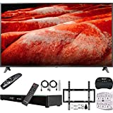 LG 82UM8070PUA 82 inch 4K HDR Smart LED IPS TV with AI ThinQ (2019 Model) Bundle with Home Theater Surround Sound 31 inch Soundbar + Flat Wall Mount Kit + 2.4GHz Wireless Keyboard w/Touchpad + More
