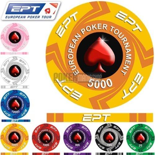 Fiches Ceramica EPT Valor 5000 - Blíster de 25 fichas