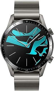 ساعة سمارت بسوار ستانلس ستيل من هواوي GT 2 - رمادي تيتانيوم
