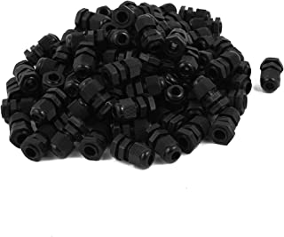 uxcell a16101300ux0476 PG7 Model Plastic Waterproof Connectors Cable Glands 100 PCS Pack of 100