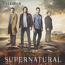 """Supernatural: 2021 Wall Calendar - Large 8.5"""" x 17"""" When Open - 12 Months"""