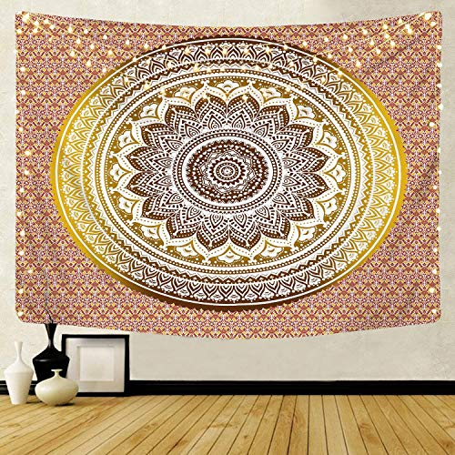 Patrón de mandala caliente tapiz indio colgante de pared cenefa bohemia elefante playa fondo tapiz de tela manta A10 180X200CM