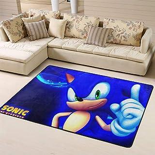 Zmacdk Sonic Racing - Alfombra para sala de estar, alfombra para pasillo, fácil de limpiar, para sala de juegos, dormitori...