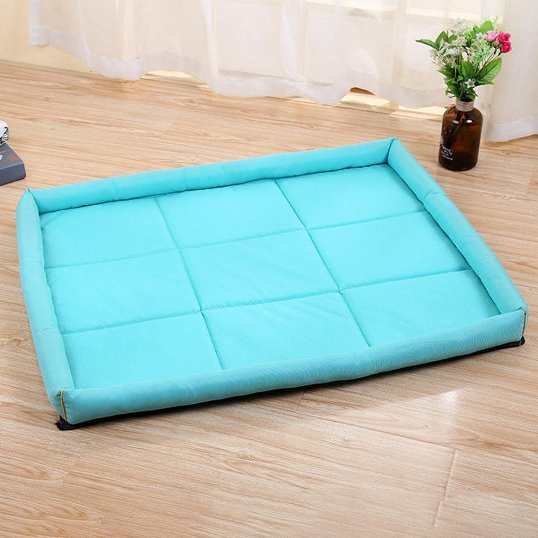 Desti Flakes Pet Bolster Dog Bed Comfort Waterproof mat Rectangular Outdoor Pet nest (color   A, Size   70  56cm)