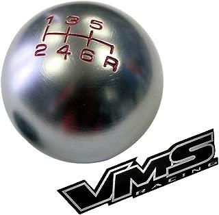 VMS Racing 10x1.5mm Thread 6 Speed Shift Knob in Gunmetal Grey Gray Silver Round Billet Aluminum for 2000-2009 02-09 Honda S2000